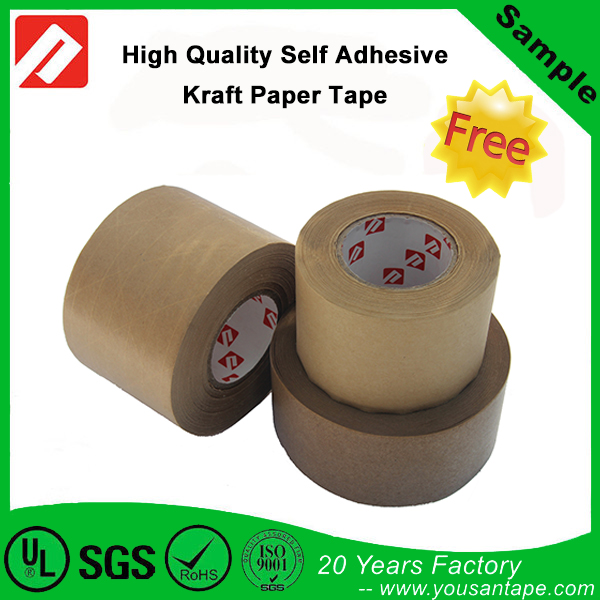 Environmentally Friendly Self Adhesive Brown Paper Kraft Tape for Packing