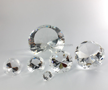 Wholesale wedding gifts item decorative large crystal diamonds
