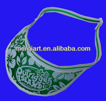 Clear Green Poker Dealer Visors