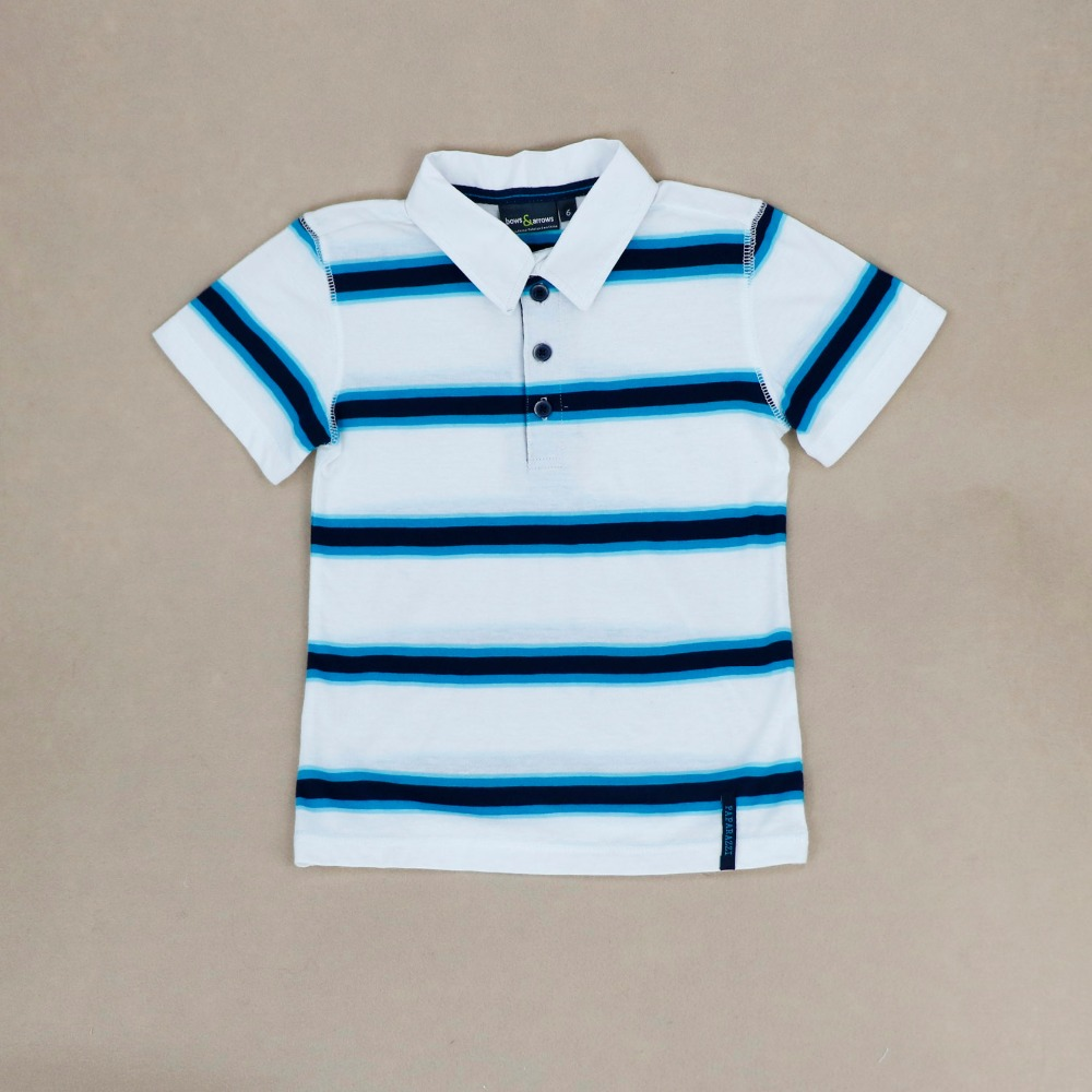 Children kids clothing striped 100% cotton baby boys polo t-shirt