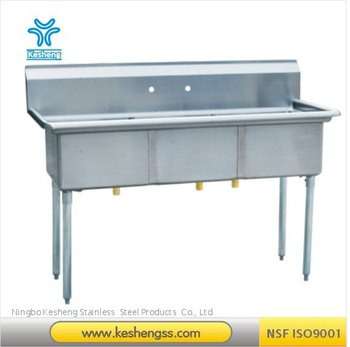 304 Compartment Sink/industrial Stainless Steel Sink