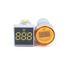 <span class=keywords><strong>AC</strong></span> digital display voltmeter 22 MM kecil LED <span class=keywords><strong>lampu</strong></span> indikator persegi melingkar AD16