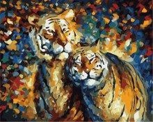abstract tiger oil painting by numbers on canvas GX6910