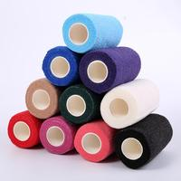 High Quality PBT Cohesive Bandage selling well medical production bule high elastic adhesive wound bandage different size