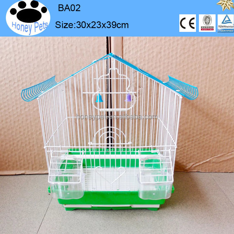 Chinese manufactured high quality handmade cute foldable house bird cage