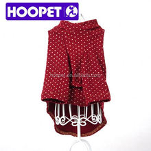 Dark red t-shirt pet dog clothes