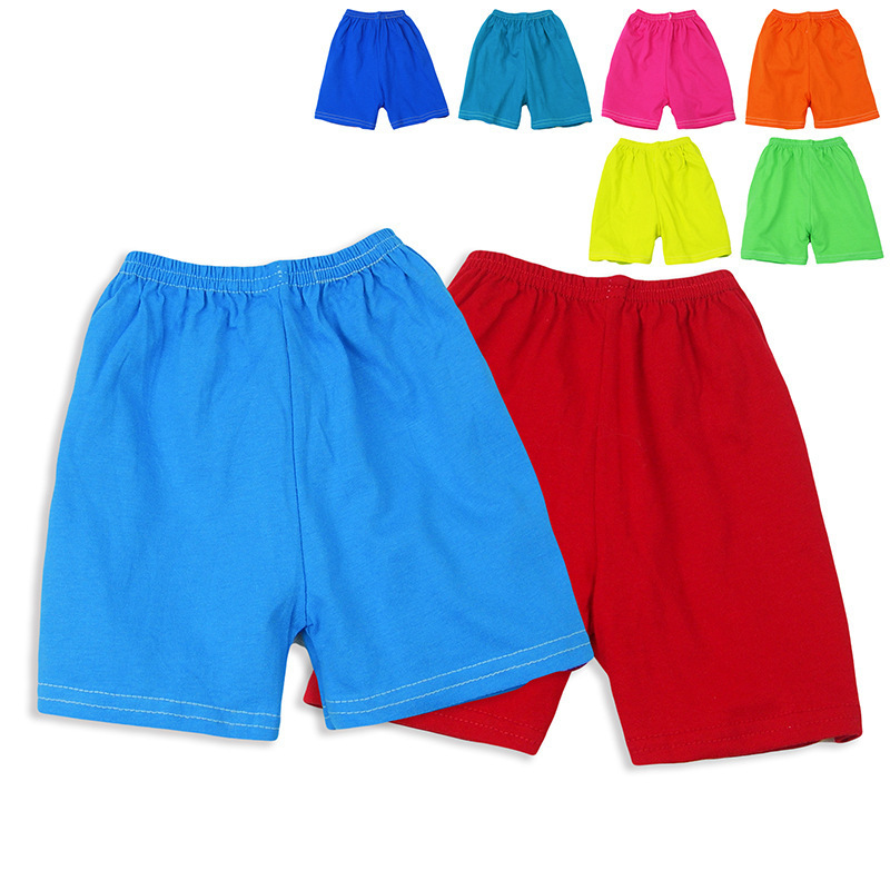 Hot 5Pcs/Lot Children Shorts For Boys And Girls Pure Cotton Kids Shorts Mixed Color Casual Beach Shorts Bermudas Wholesale