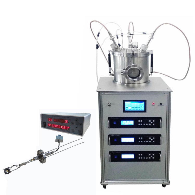 Three target  magnetron sputtering coater with molecular pump system for coating glass wafer
