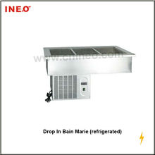 Restaurant And Hotel Commercial Drop-in Cold Or Refrigerated Bain Maries For Self-service Or Buffet
