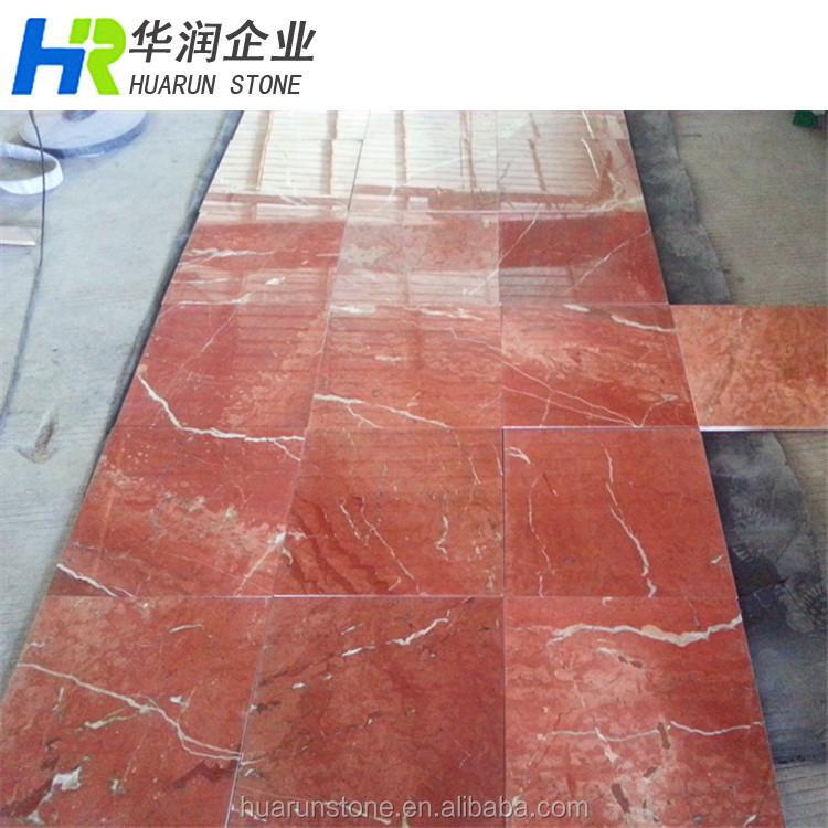 Rojo pulido marmol espa ol alicante azulejos ba o de for Marmol espanol precios