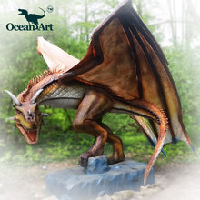 OA J9052 life size huge and Robotic dragon model for sale theme park game