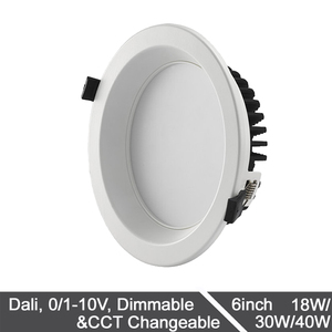 Dali Dimmable Recessed LED Downlight, 18w 30w 40w Led Down light Housing