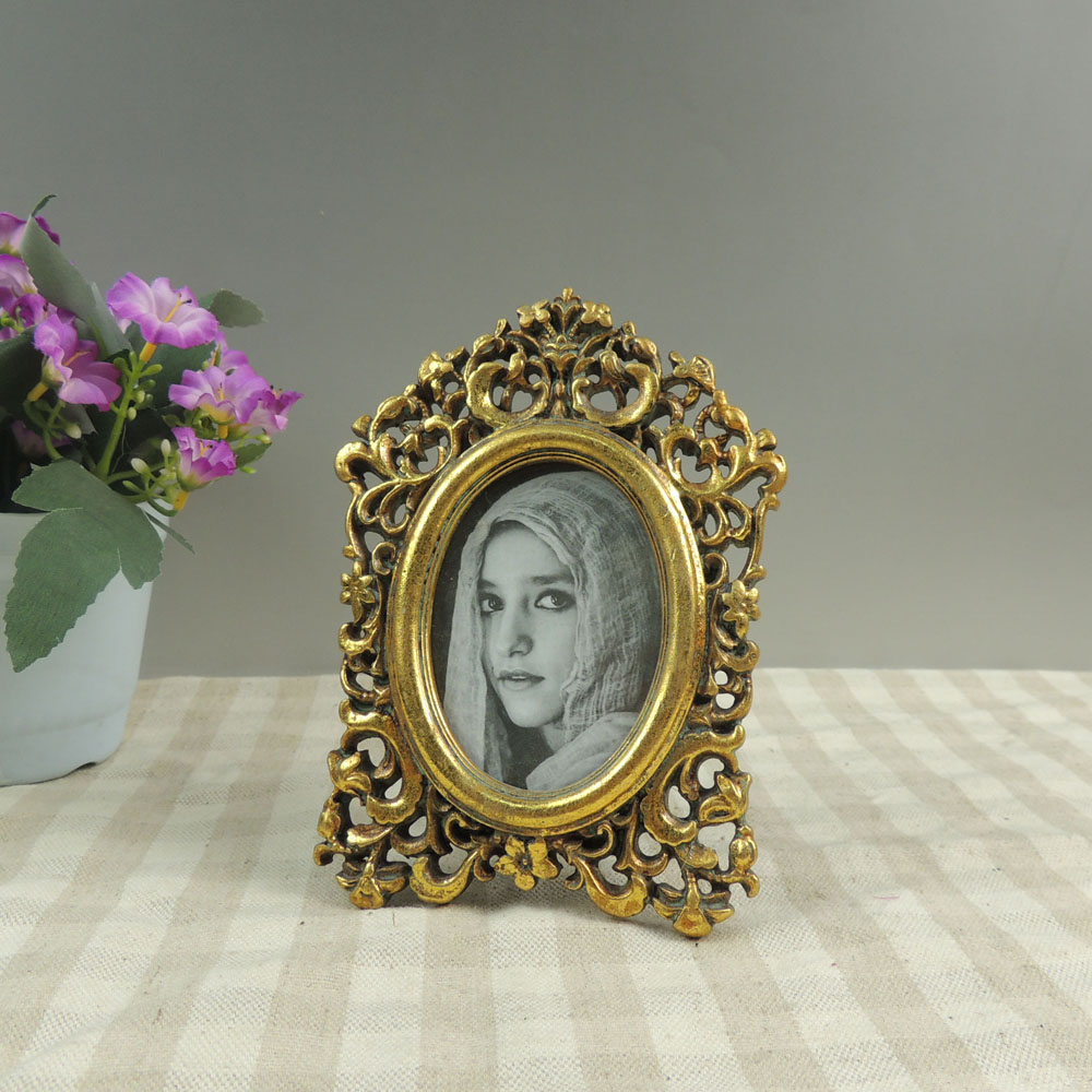 Cheap Mini Vintage Gold Photo Frames in Bulk