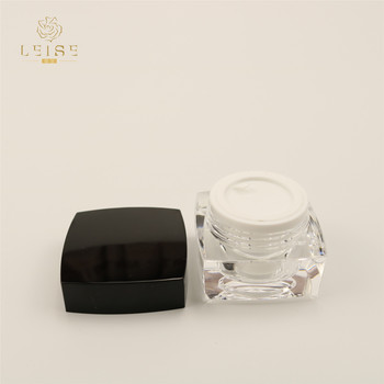 Cheap and good quality 5g 10g 15g 30g 50g square empty acrylic double wall cosmetic cream jar 1oz 2oz 3oz hot sale jars black