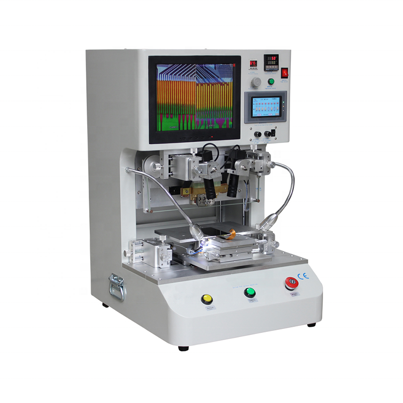 Flex Kabel Machine LCD Scherm Reparatie Machine Puls Hete Pers LCD Flex Kabel Lint FPC ACF Bonding Machine met 12.1 inch Display
