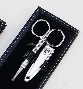 Manufacturer supply mini leather manicure and pedicure set nail high quality manicure sets S02