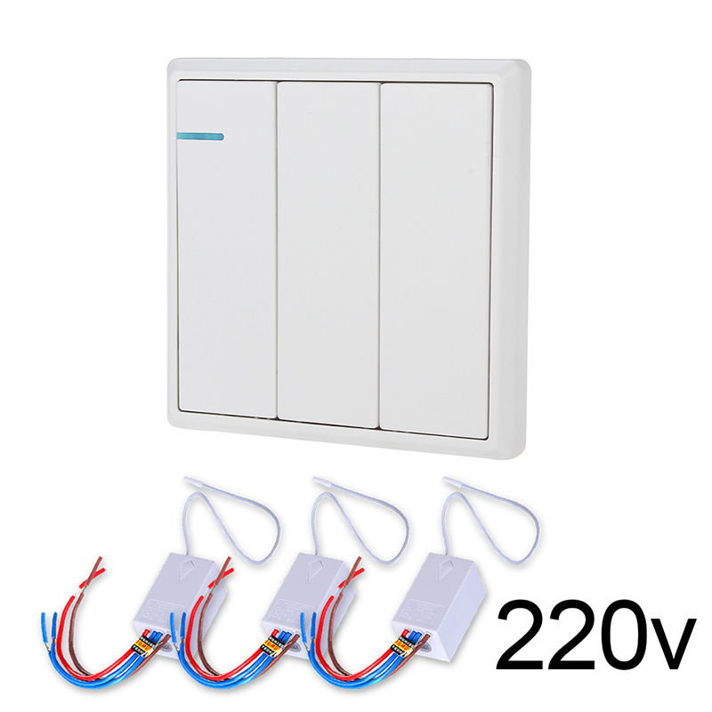 Excellent 3 Gang Wireless Remote Control Battery Powered European Light Switch Wiring Digital Resources Cettecompassionincorg