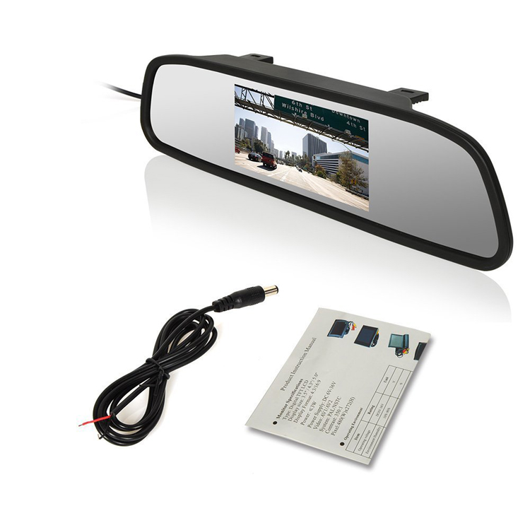 Top seller rear view mirror display 4.3 inch car Monitor