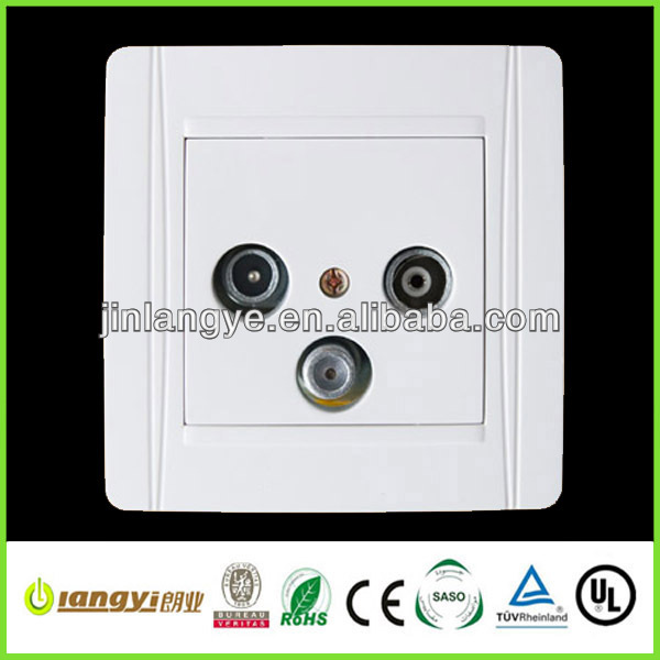 2013 FM tv satellite wall socket (LYFMTVSA(HF))