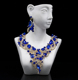 royal blue stone jewelry african lady high quality big fashionable wedding jewelry sets