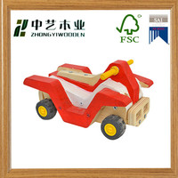 Vintage style colorful Carved Racing Car toy wood toy educational toy made in CHINA