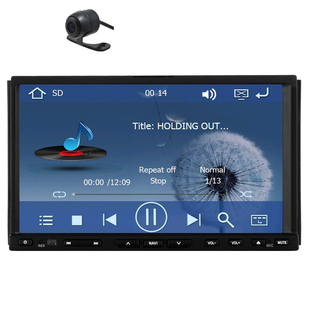 Pupug 7inch Car Gps Navigation AM FM Tablet Stereo Video Double 2 Din In-dash GPS navigation Video Video Car DVD Audio Player FM Car Audio AM radio GPS DVd Player with free Back Camera