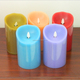 Holiday decorating flameless moving wick battery operated glitter candle light