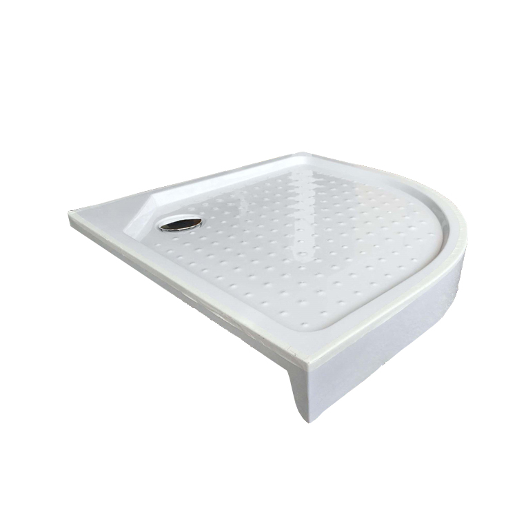 Hot selling family bathroom white Sector acrylic deep shower tray