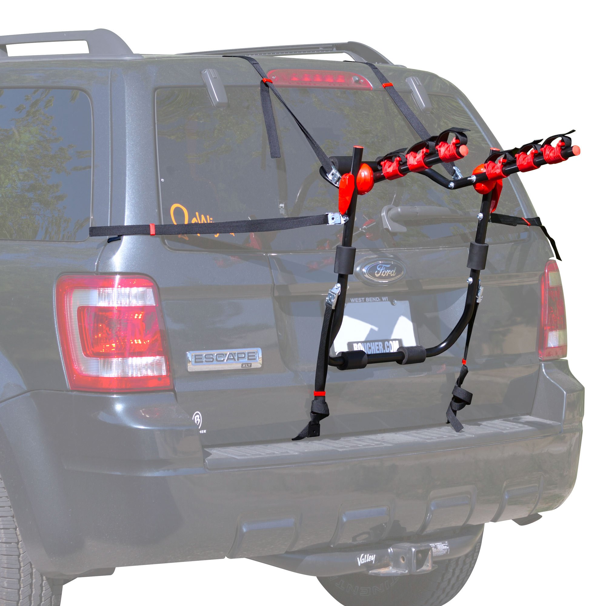 Rage Powersports BC-71031-3 Scout 3-Bike Trunk Mounted Bicycle Carrier Rack