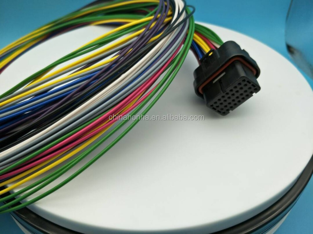 عالية الجودة motec wireharness/haltech ecu 34 دبوس أنثى on