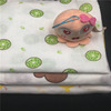 High quality 100% organic cotton baby muslin gauze fabric for swaddle blanket