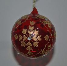 Wholesale Fashion Ornaments Clear Glass Christmas Ball