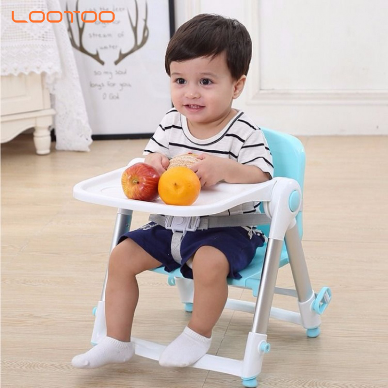 China mnanufacturer KC certificate best selling children foldable lightweight baby dinning chair