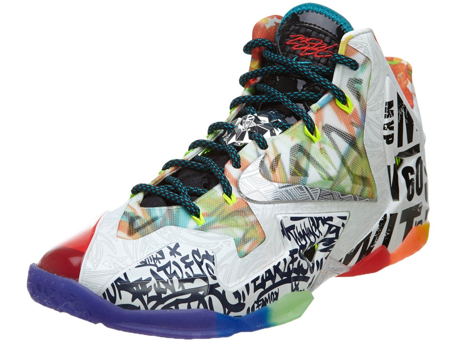"Nike Mens Lebron XI Premium ""What the Lebron"" Synthetic Basketball Shoes"
