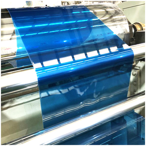 color recycled film for thermoforming transparent bule color PET Plastic Sheet APET Film roll Clear for fruit box Thermoforming