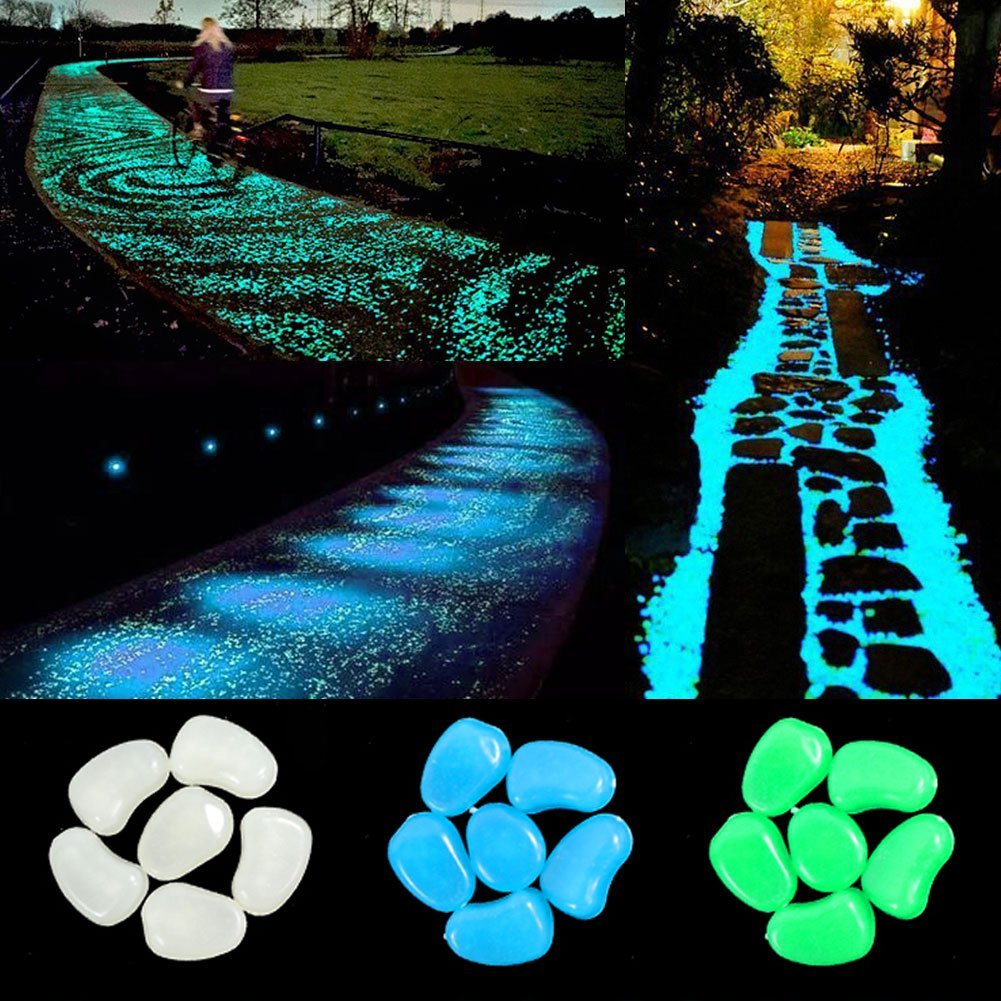 Decorative glow pebble stone Glow In Dark Luminous Pebble Rocks for garden Decoration