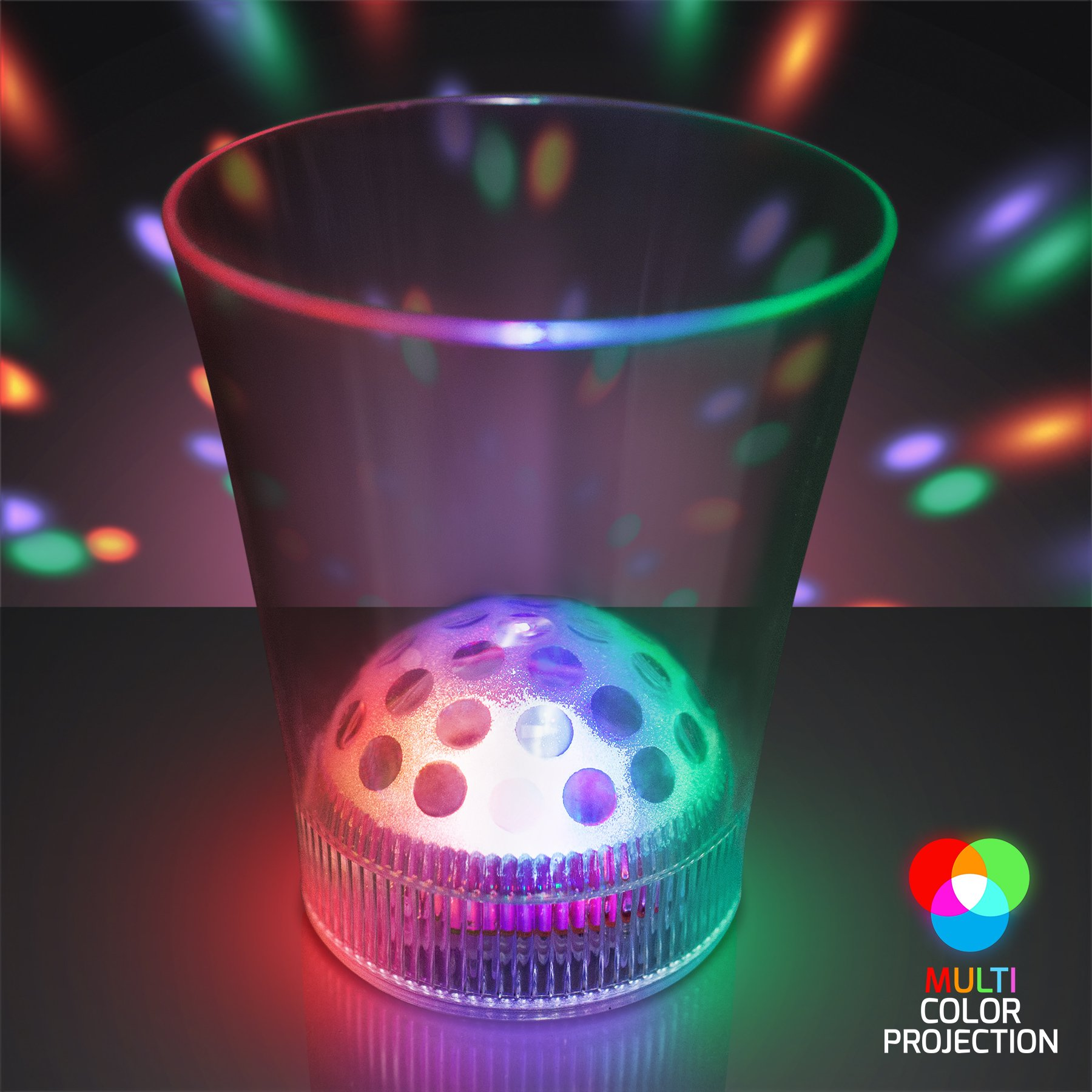 Disco Ball Light Projecting LED Cup (Set of 12)
