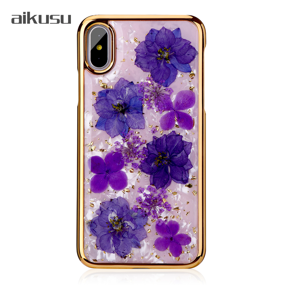 Custom China direct factory price real flower luxury case phone for iPhone 6 7 8 plus X / XS / XR / XS MAX фото