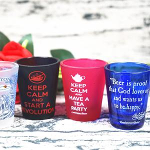 50ml Machine Made Eco-friendly Designable Frosted Wholesale Promotional Souvenir Shot Glass