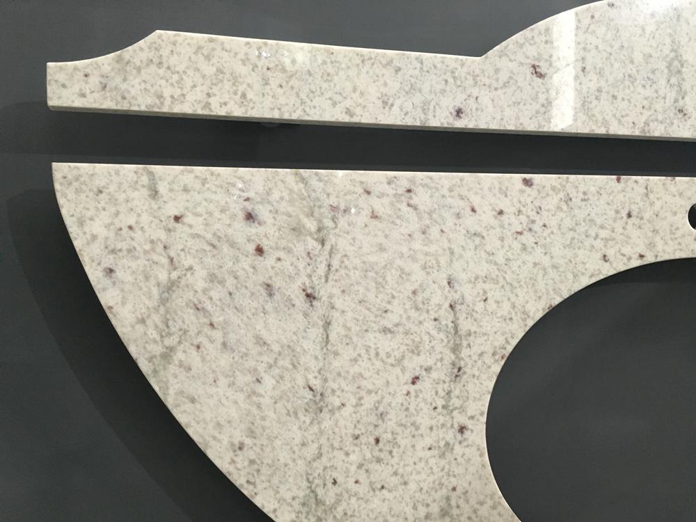 Artificial Stone White Quartz Slab, Beautiful River White Veins Quartz Stone for Work Tops Countertops