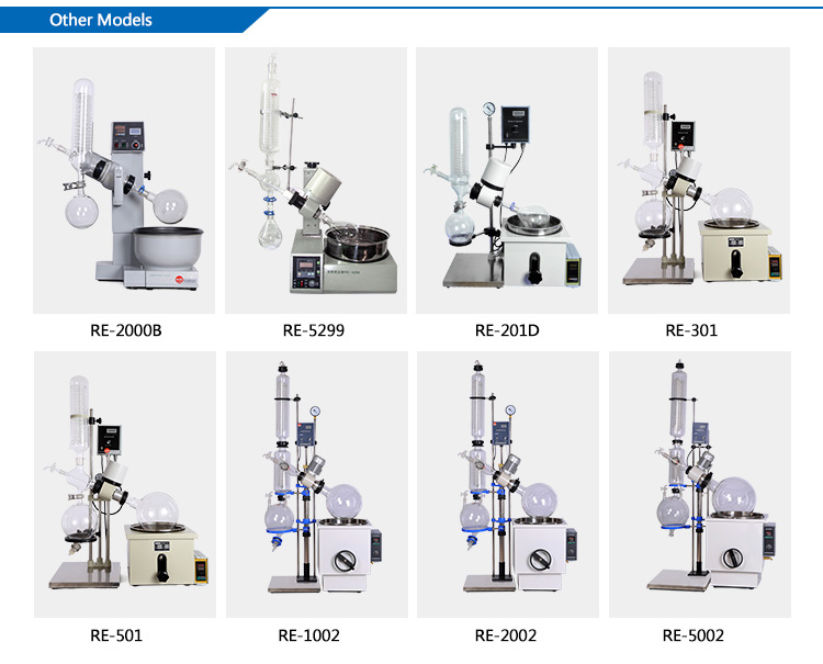 Small and big capacity lab rotary vacuum evaporator types/Rotary dryer Rotovap heating water bath