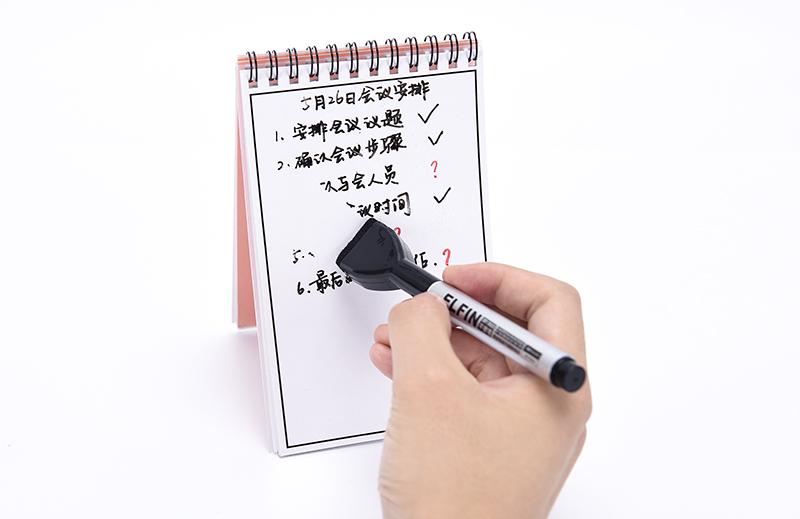 Promosyon İş Yazma Bloknot Marker ile Renkli Kağıt Not Bloknot