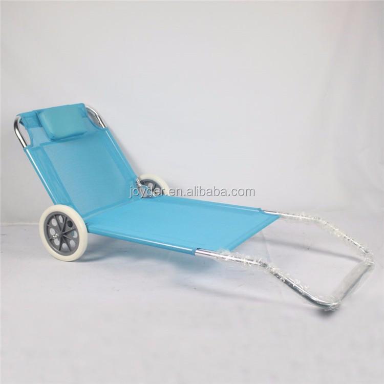portable soleil l ger pliant lit de plage avec roues buy lit de plage plage lit avec roues. Black Bedroom Furniture Sets. Home Design Ideas