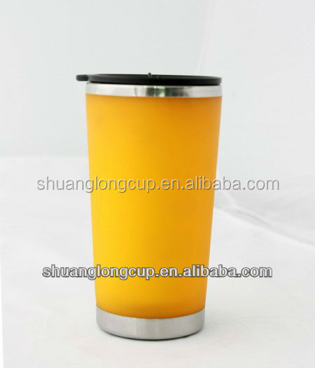 novelties goods from china Advertising personalized plastic thermal mug for sale