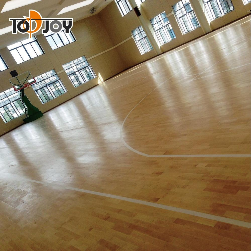 Indoor School Gym Vinyl Sports Flooring For Basketball