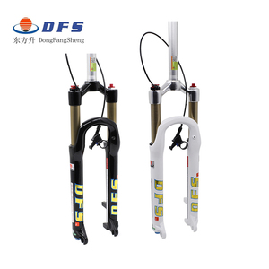 DFS air fork DFS-RLC-RCE 26er 27.5er suspension mountain fork bicycle MTB fork REMOTE lock out damping adjust 100mm travel 1-1/8