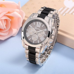 famous geneva brand women fashion casual roman numerals plastic mix alloy band men dress quartz analog cheap wrist watches watch