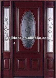 Wooden Oval Glass Apartment Doors Entry DJ-S9312MST