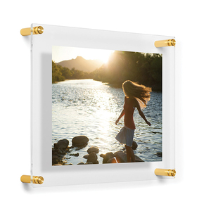Wall Mount UV Filtering Clear Acrylic Hanging Photo Frame
