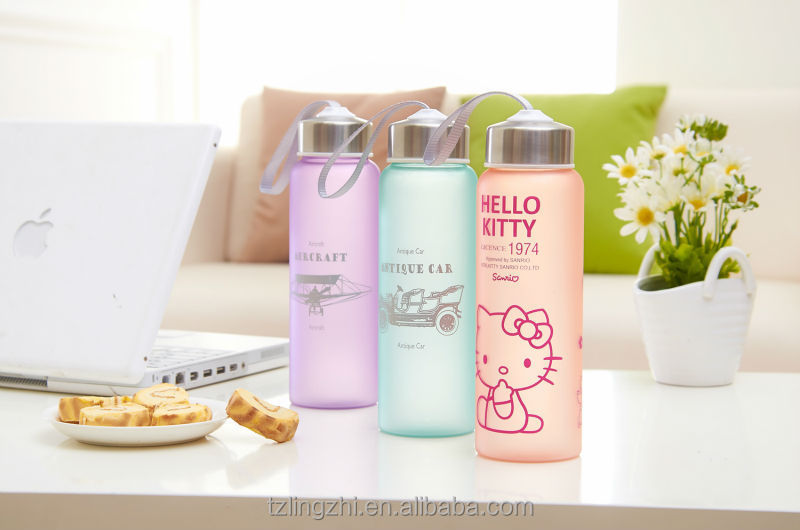 plastic fashion space cup,hello kity water cup,plastic water bottle,cap with stainless steel